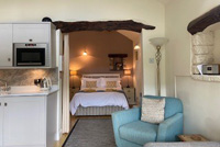 Image: Swallow Barn 4 star self catering cottage open plan area.