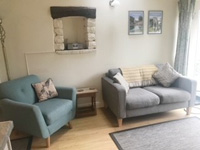 Image: Swallow Barn 4 star self catering cottage lounge seating area.