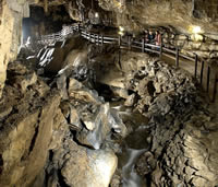 Image: Pooles Cavern, major visitor attraction in Buxton, Derbyshire.